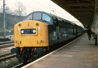 40145 at Lancaster bound for Barrow - 14th March, 1981