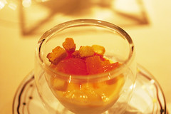 panna cotta w/ blood orange @ alex