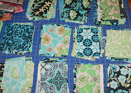 Cut fabric for Sew New to Me VQB