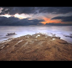 A Lovely Morning.... (i.rashid007) Tags: longexposure morning seascape sunrise rocks northumberland northeast newcastleupontyne stmarys whitleybay tyneandwear