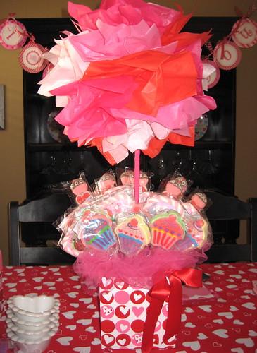 Valentines party centerpiece