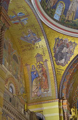 Cathedral Basilica of Saint Louis, in Saint Louis, Missouri, USA - mosaics in west sanctuary arch