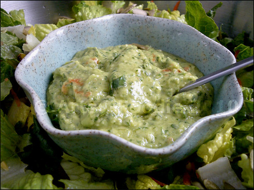 Avocado Salad Dressing Bowl