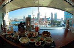 Chinese Food at Yokohama (Spice  Trying to Catch Up!) Tags: travel blue sea sky food brown white color building art window japan wall canon geotagged lunch photography eos soup interesting asia flickr ship rice image tea drink beverage picture vivid blogger fisheye livejournal explore collections  yokohama vox   minatomirai      landmarktower gettyimages multiply        kanagawaken   twitter iamge  twitpic