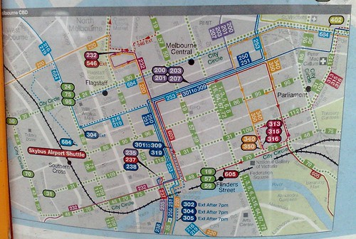 CBD transport map