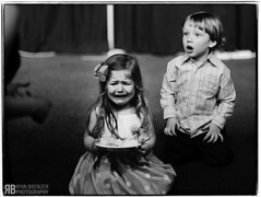 """Who, Me?"" (Ryan Brenizer) Tags: wedding boy blackandwhite cute girl children fun nikon louisiana funny neworleans noflash 85mmf14 weddingphotojournalism d700 evaandlane"