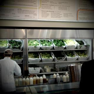 Lettuce library at Mixt Greens - fantastical salad restaurant.