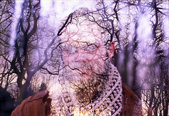 (maren-celest) Tags: trees portrait color men film boys 35mm beard purple dusk branches lavender slide sensia
