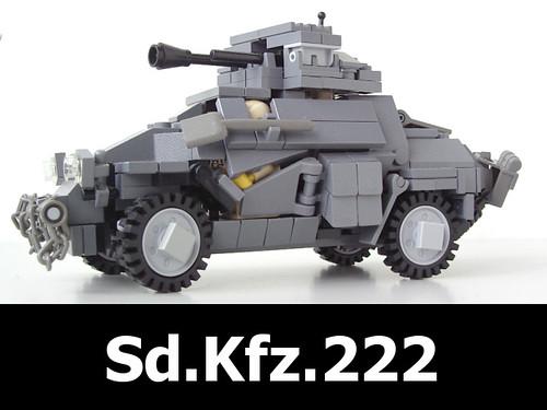 Custom minifig SdKfz222 lego moc