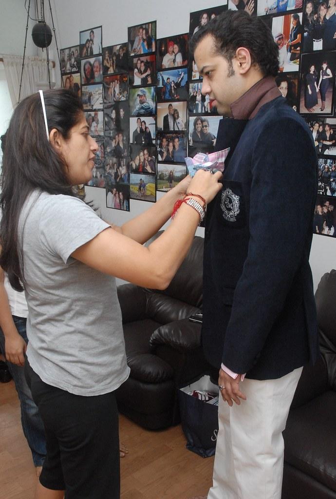 Sabina Khan with Rahul Mahajan