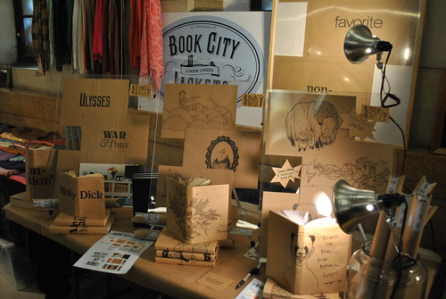 Book City Jackets at Brooklyn Flea Market - Williamsburgh Bank Building - One Hanson Place