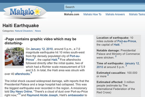 Haiti Earthquake On Mahalo