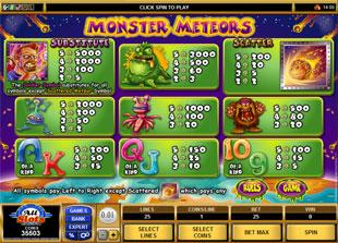 free Monster Meteors slot mini symbol