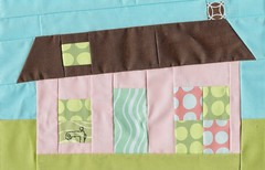Eurovision Quilters - Maison pour Dallas (Madame Crative) Tags: house quilt sewing machine block improv patchwork wonky quiltingbee freepiecing evqfebruary