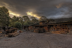 Millgrove Sawmill (WilliamBullimore) Tags: wood trees sunset clouds truck evening saw dusk timber au australia victoria machinery canonef2470mmf28lusm hdr sawmill gravel hdri millgrove canonrc1wirelessremote manfrotto190xbtripod canoneos5dmarkii manfrotto322rc2heavydutygripballhead millgrovesawmill