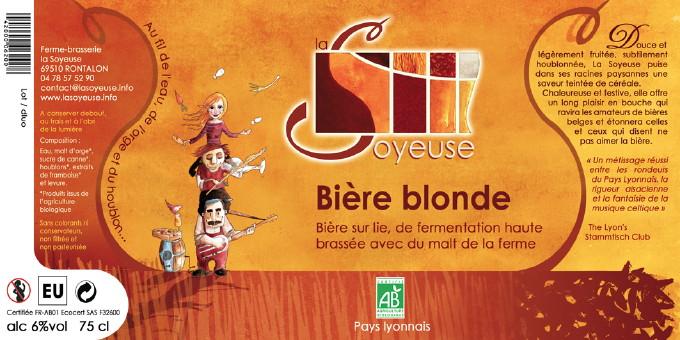 Etiquette Bière La Soyeuse Blonde