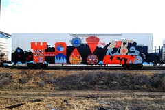 Hi! from Doit, Rios, Betwo (208 Bench) Tags: art train graffiti doit graff rios freight reefer armn betwo
