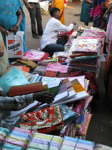 Textiles in the Mapusa Market