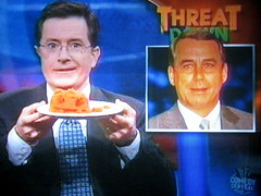 The Colbert Report - John Boehner is made of pumpkin (rosewithoutathorn84) Tags: orange face john pumpkin funny report stephen republican colbert boehner