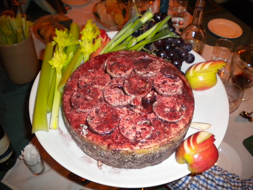 Cheese made with Port Wine on the top