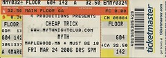 03/24/06 Cheap Trick @ Maplewood, MN (Ticket)