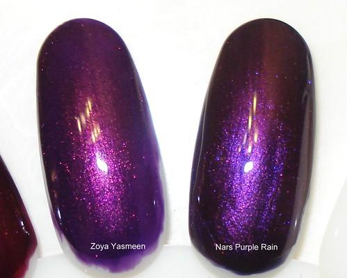 Pretty In Dayton: Polish - Comparison: Zoya Yasmeen vs. Nars Purple Rain