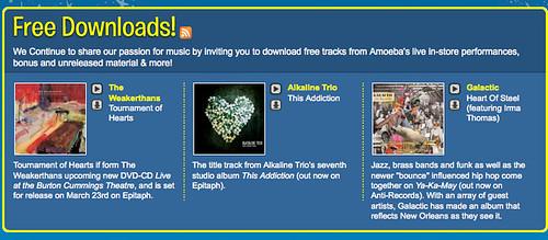 Franklin Avenue: FREE L A : Amoeba Records' Music Downloads Page