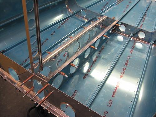 Bellcrank Rib Rails Installed