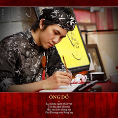 - ng  - Calligrapher - (-clicking-) Tags: lighting art handwriting portraits faces vietnam calligraphy tradition handwritten calligrapher tt thphp phng