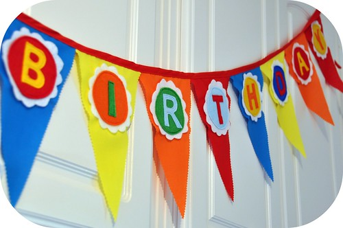 rosy posy tutorial make a felt fabric birthday banner