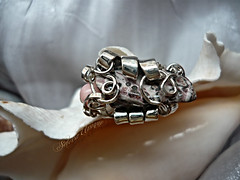 Spledid Temptation - Leopard Jasper, Natural Coral, Sterling 925 Silver (MoonSpyder) Tags: coral metal stone unique jewelry ring gift metalwork sterling jewel adjustable leopardjasper