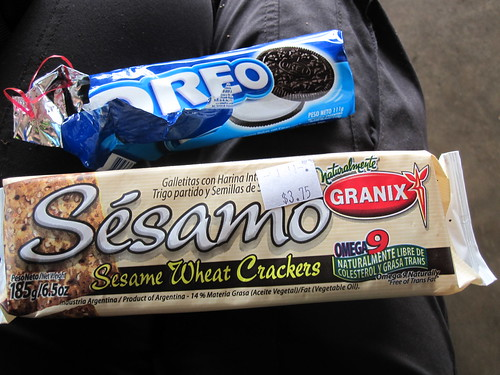 Oreos and Sesame Crackers