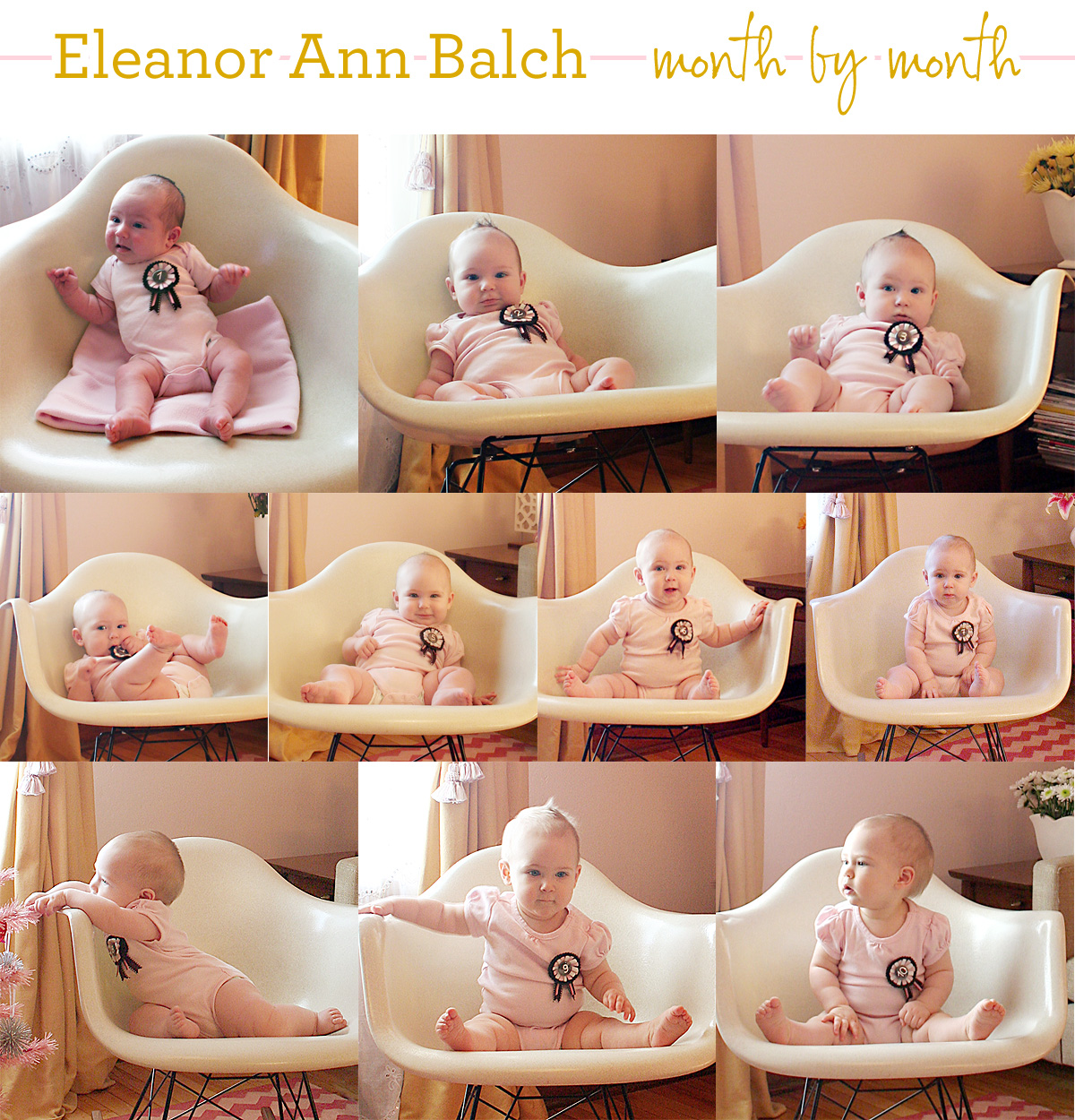 Ten Months Old (Eleanor's Monthly Photo)