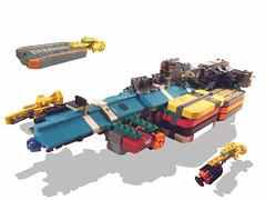 MSC II Freighter (Pierre E Fieschi) Tags: lego space cargo spaceship homeworld carrier msc microspace fieschi microscale microspacetopia pierree