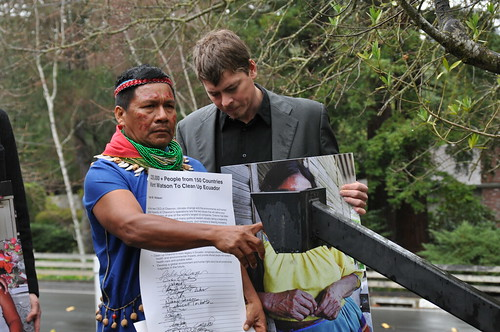 Petition Delivery to Chevron
