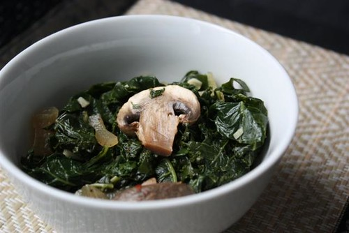 Smoky Sauteed Kale & Mushrooms @ Fake Food Free