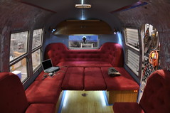 solar powered airstream (mobile comand center) (Prescott Mccarthy) Tags: bamboo remodel airstream solarpower microsuede diamondtuck prescottmccarthy