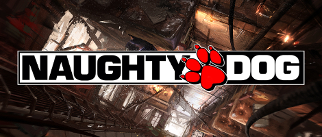 Naughty Dog Logo with Uncharted 2 Concept Art as Background