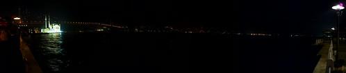 Bosphorus panorama at night from Ortaköy