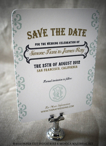 French Artisan Wedding Stationery Suite: Save the Date