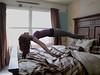 Levitation (FragilePhoto) Tags: windows sunlight selfportrait me girl female photoshop myself bed floating naturallight float imagemanipulation levitating levitate cs3 femaleselfportrait
