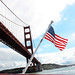 flag and golden gate