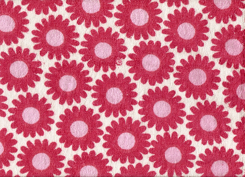 Red & Pink Towel Flower Textile