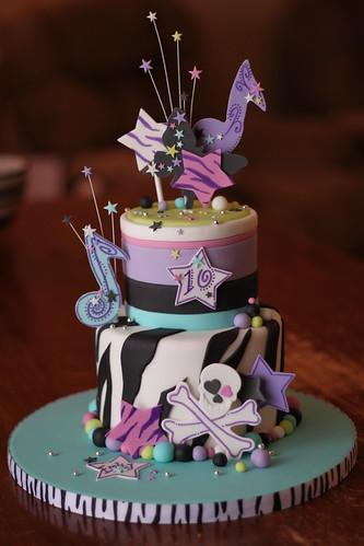Hannah Montana inspired cake