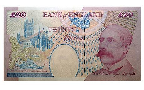 Bank of England Elgar 20