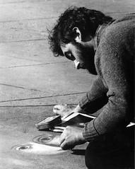Dublin Street Artist (XSTANT) Tags: park ireland blackandwhite dublin muscle cemetary barber 1981 biceps