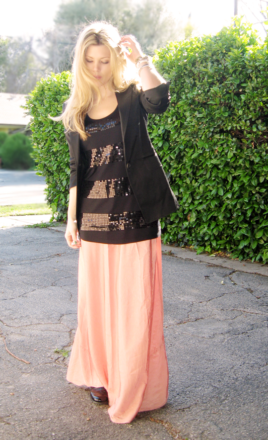 long skirt black blazer-1 lighter