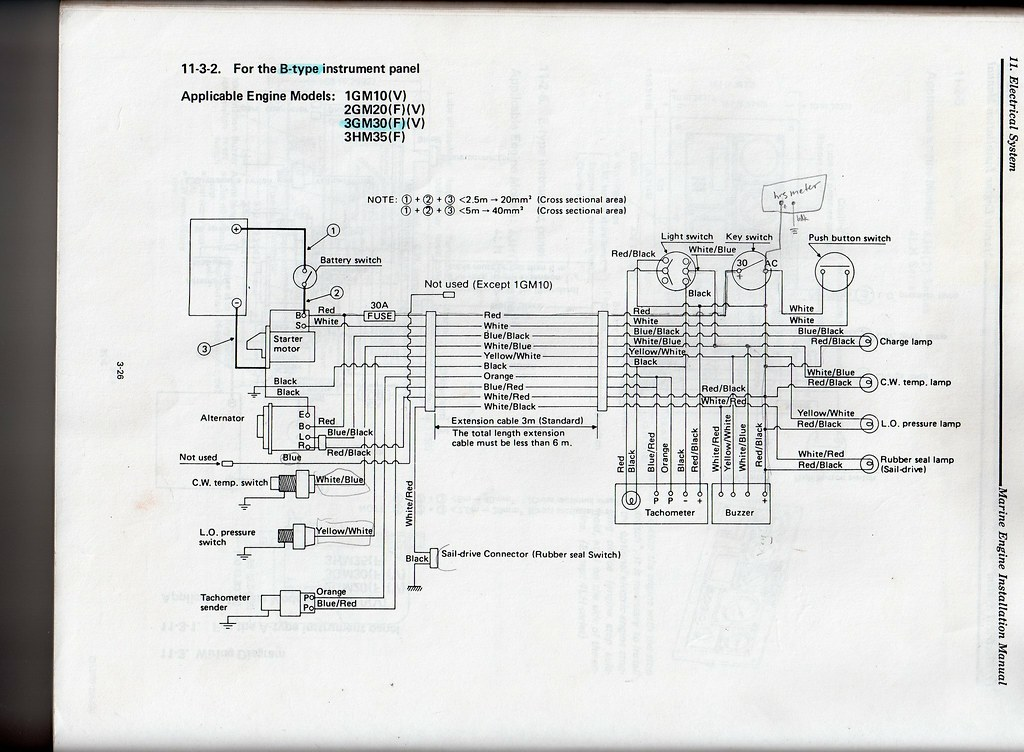 yanmar 2gm20f electrics ignore my scribbles on the b diagram