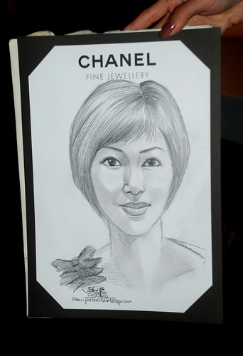 Portrait live sketching for Chanel Fine Jewellery Exhibition Day 3 - 5