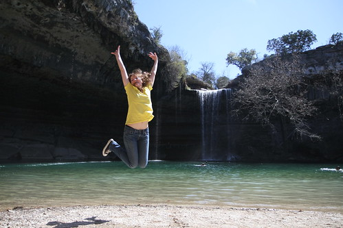 Hamilton Pool jumpshot!!!
